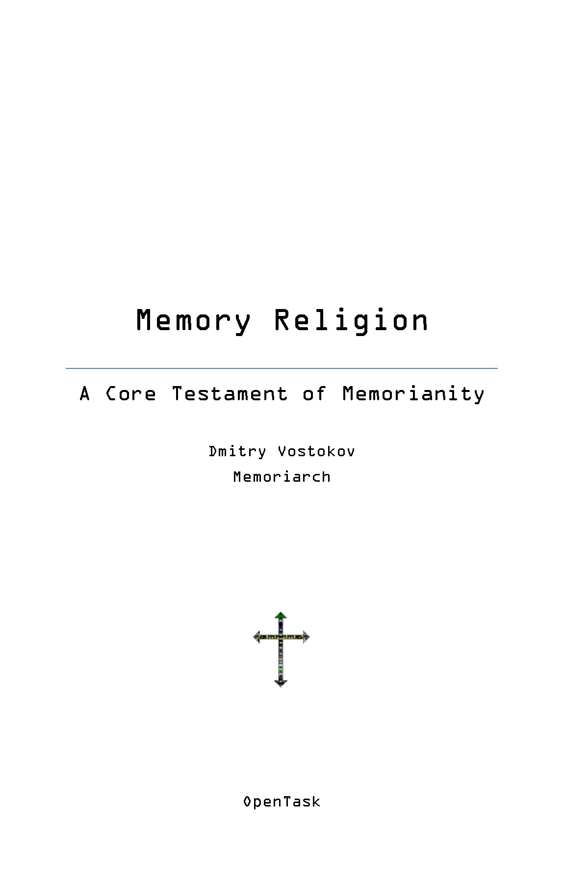 Core Testament of Memorianity (Memory Religion) Page 1