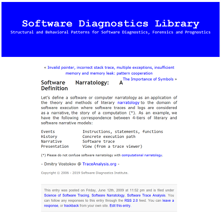 Software Diagnostics Institute | Structural and Behavioral